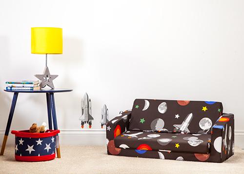 Galaxy Kids Folding Sofa Bed Futon Play Mattress Fold Out