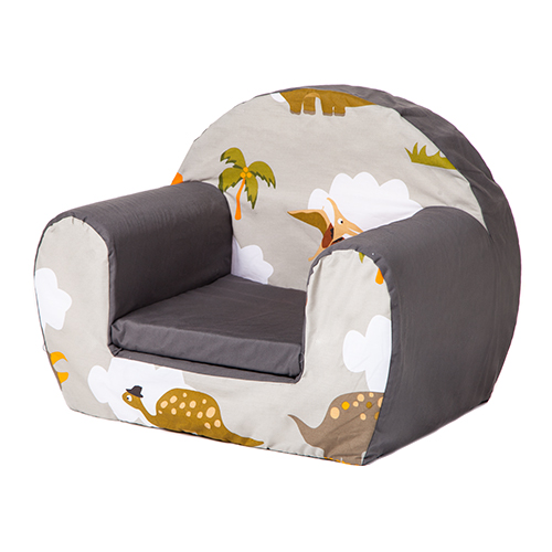 Jurassic kids foam armchair soft seating chair seat for Toddler foam chair