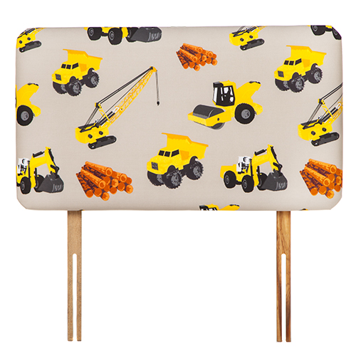 Childrens Printed Design Single Bed Size Fabric Headboard