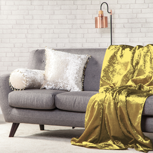Crushed Velvet Soft Throw Over Sofa Protector Bed Spread
