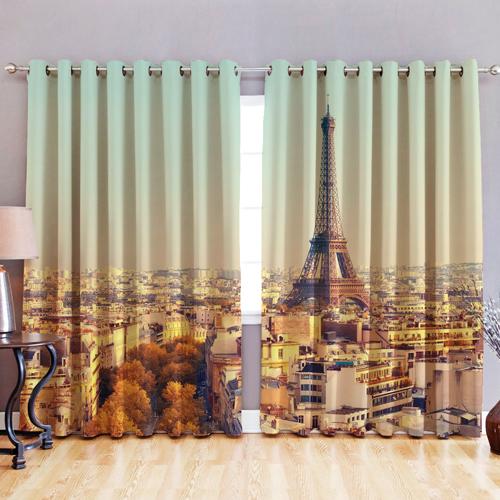 Tissu-occultant-3D-Imprime-Rideaux-Oeillet-Prets-Ring-Top-fenetre-KIDS-photo