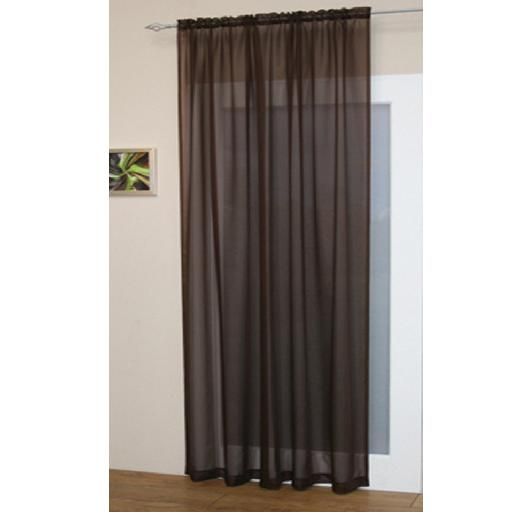 Voile curtains slot top
