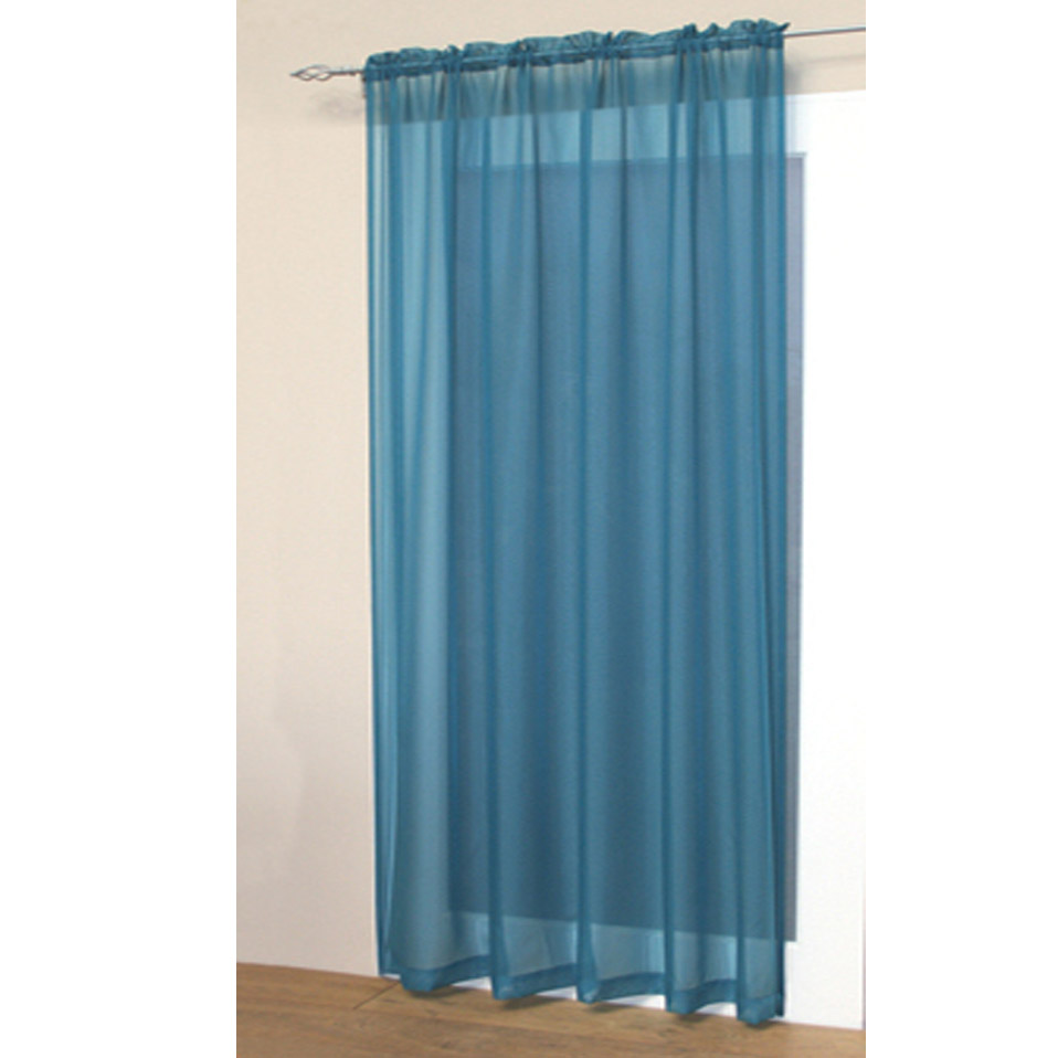 Voile Net Slot Top Rod Pocket Curtain Panel Bedroom Kitchen Living Room Curtains
