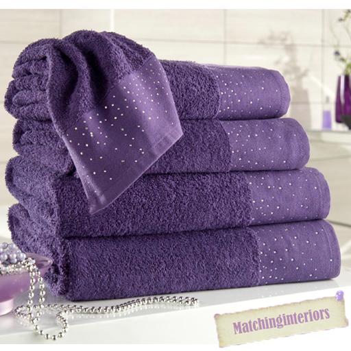 Lusso brillantini design egiziano bagno di cotone - Asciugamani bagno di lusso ...