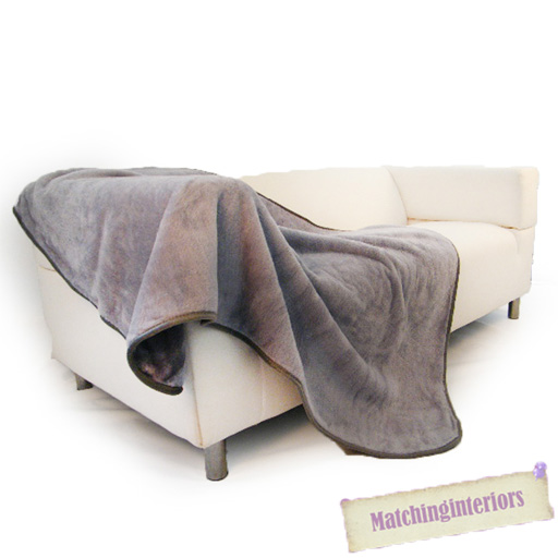 1, 2, 3 SEATER MINK FAUX FUR SOFA BED SETTEE THROWS