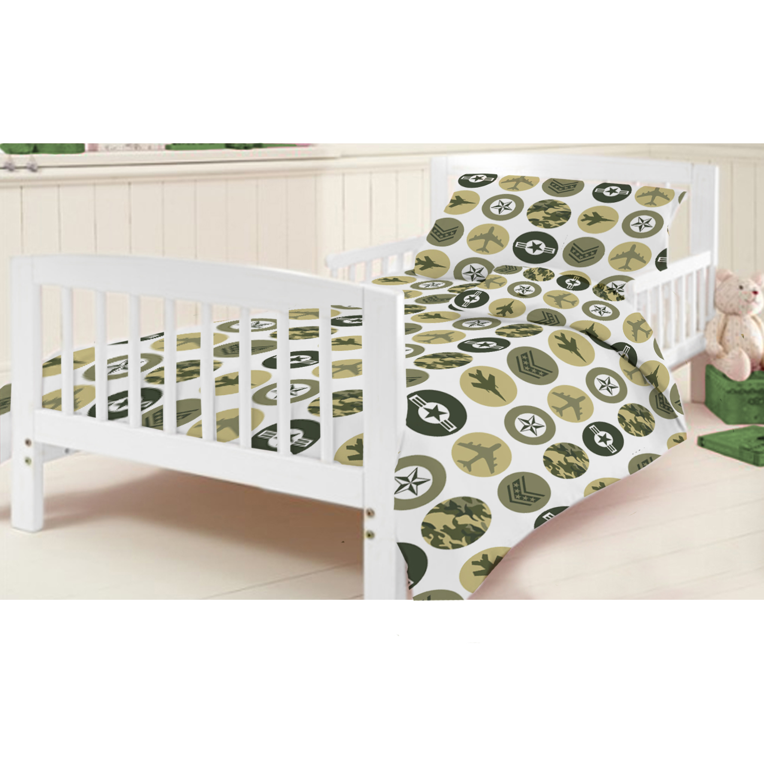 how to set up cot bedding