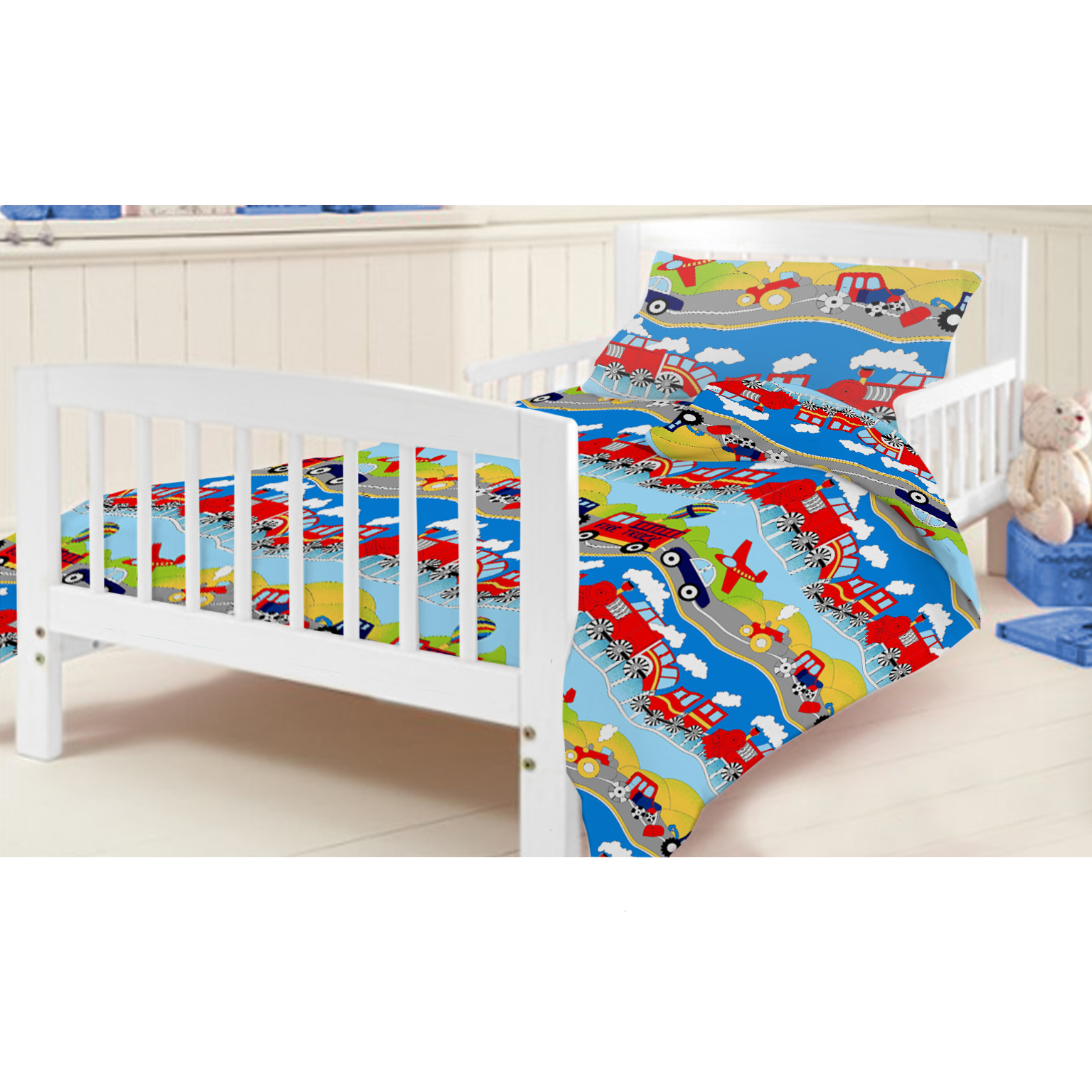 Ready Steady Bed Childrens Kids Cot Bed Junior Duvet