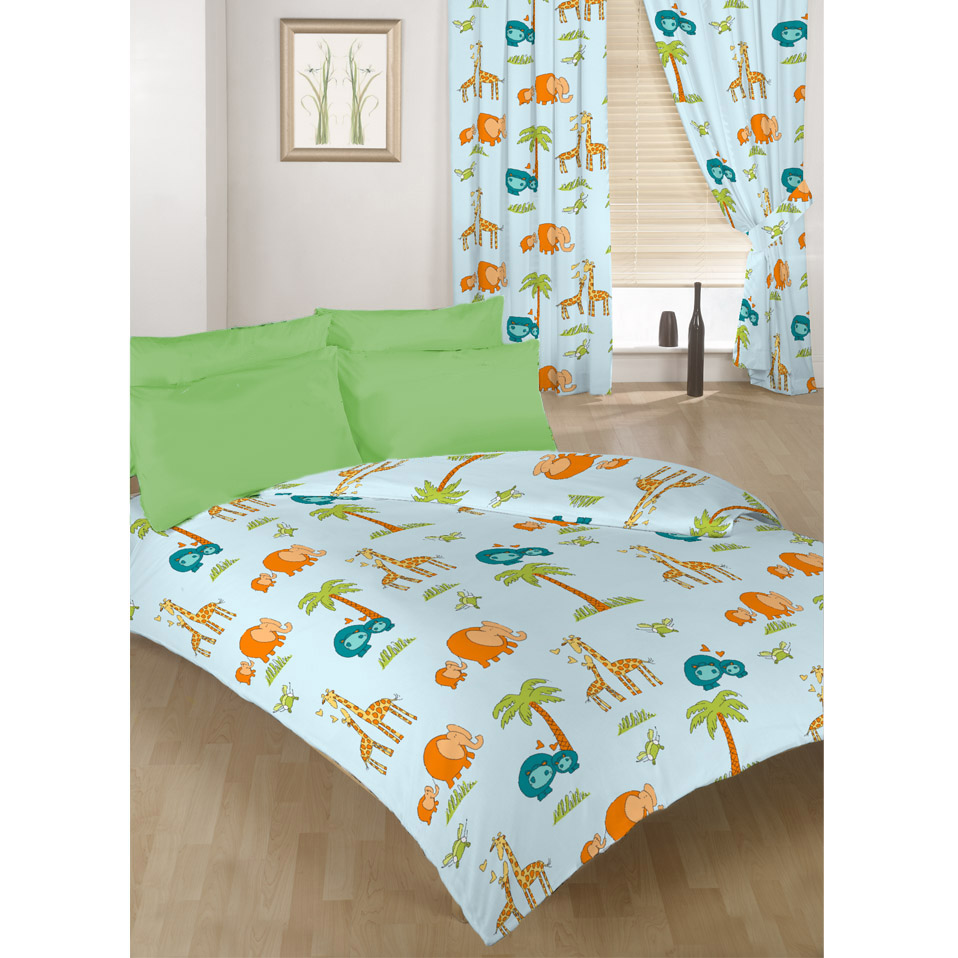 Children 39 s kids duvet quilt covers or curtains in a choice for Bedroom curtains and bedding