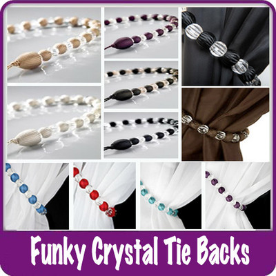 Sale Modern Crystal Beaded Curtain Rope Tie Backs