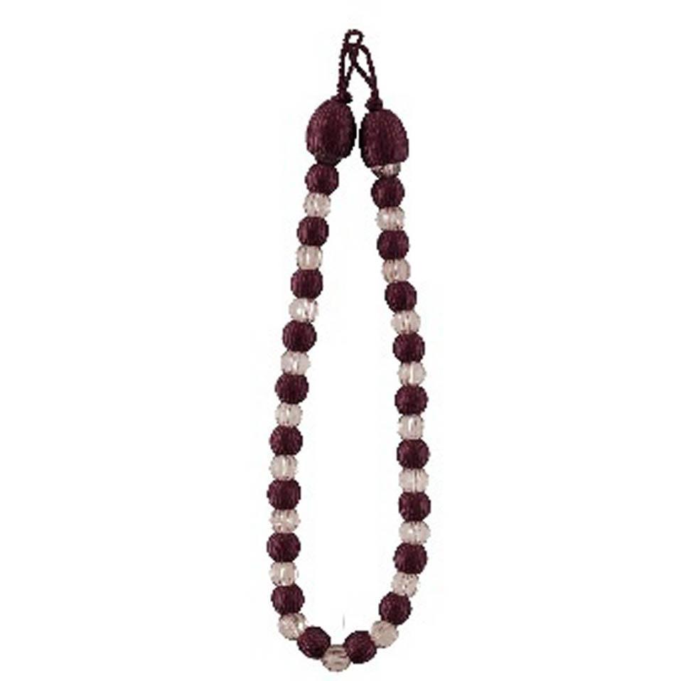 Sale modern crystal beaded curtain rope tie backs for Decorative holdbacks