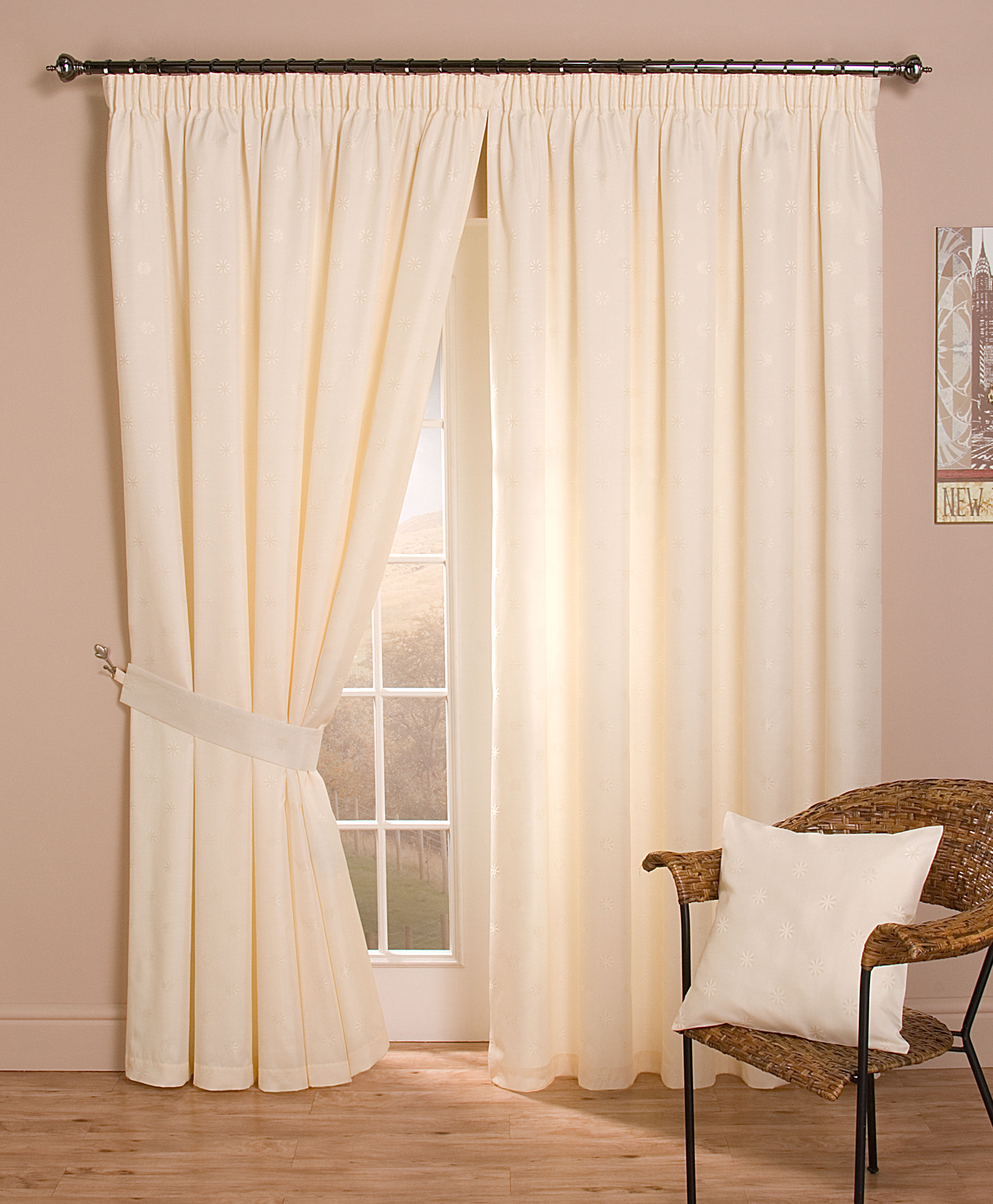 curtain dunelm mill lined check eyelet highland door natural beaded curtains