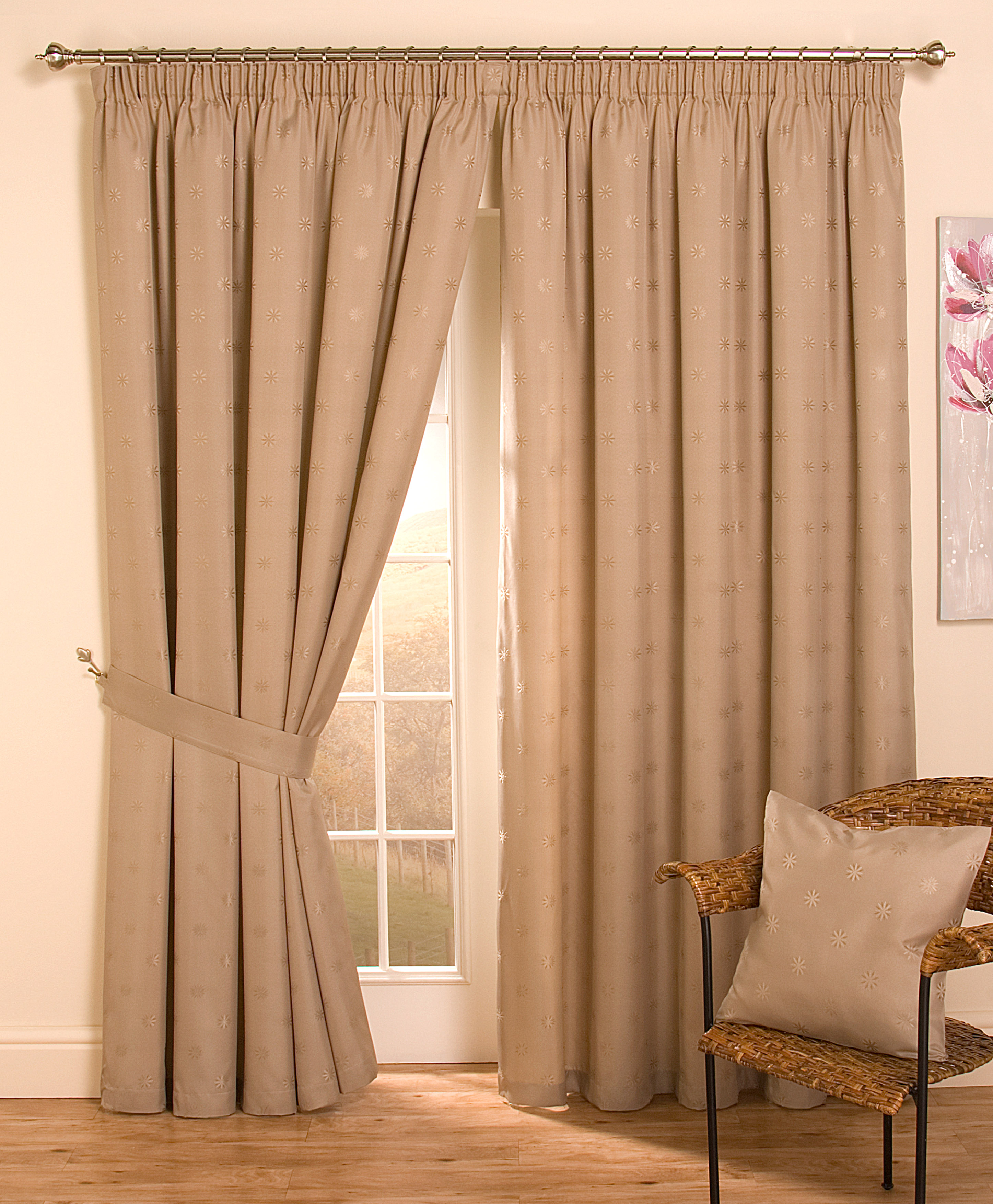 cheap full lined tape top pencil pleat jacquard curtains thermal door curtains ebay. Black Bedroom Furniture Sets. Home Design Ideas