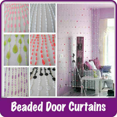 Plastic Beaded Curtains Wide Doors Windows Dividers Fly Insect ...