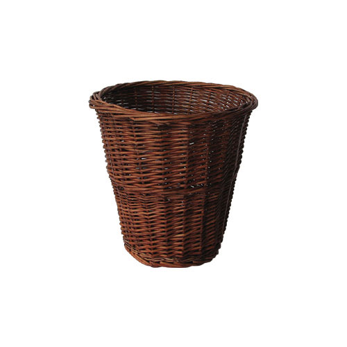 4 colours steamed round willow wicker basket storage waste for Waste baskets for bathroom