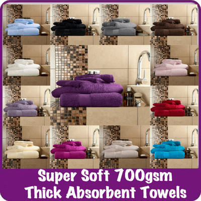Luxury-100-Egyptian-Cotton-Towels-Thick-Absorbent-Top-Quality-700gsm-17-Colours
