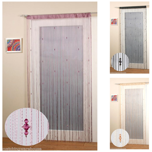 Sparkle perles cha ne porte fen tre rideau moustiquaire ebay - Rideau moustiquaire porte fenetre ...