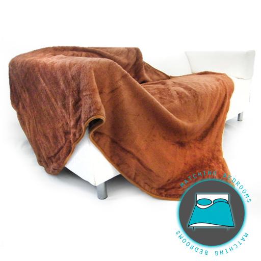 xl brown super soft faux fur mink fleece blanket sofa