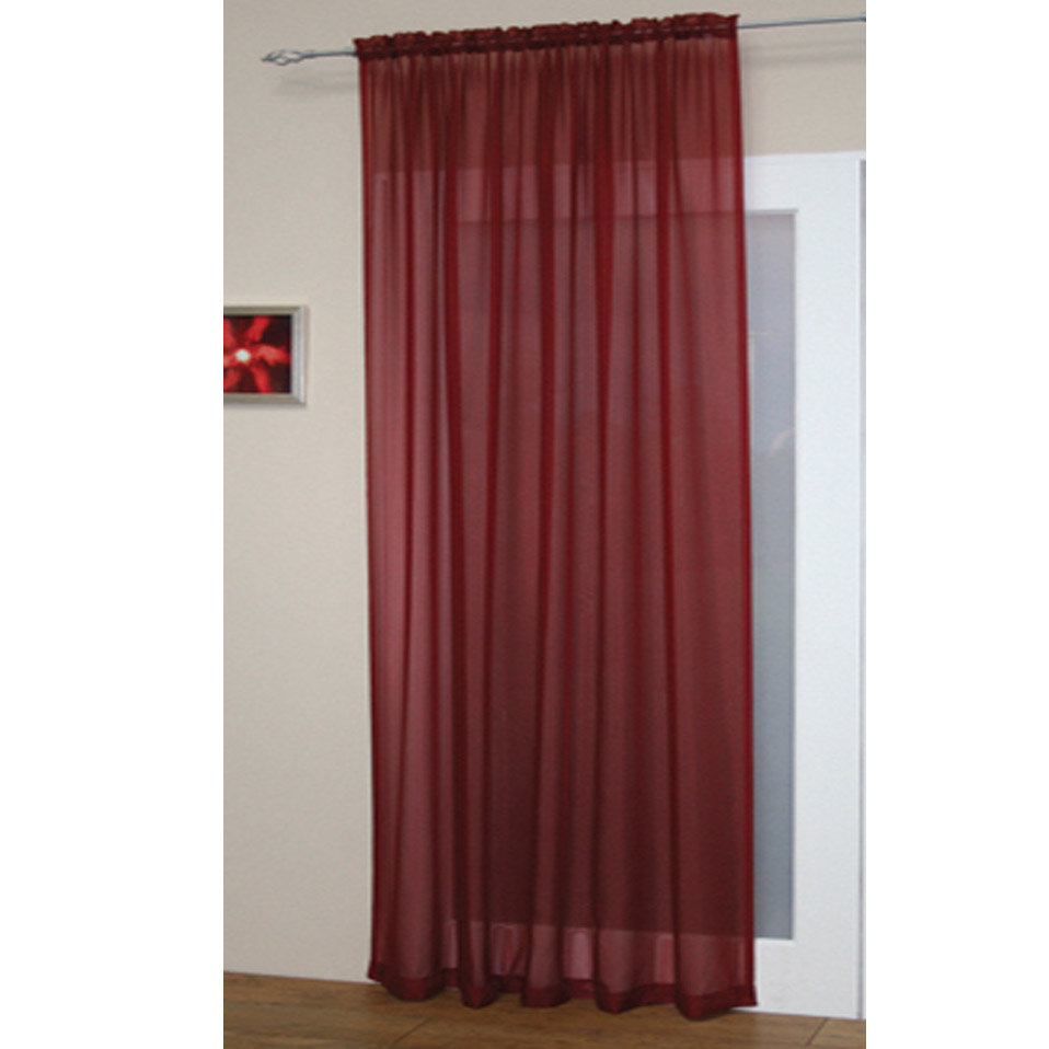 Voile netto fessura top canale bordo superiore per bastone for Tende in voile