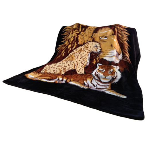 Extra Large Animal Print Mink Faux Fur Blankets 200cm by ...