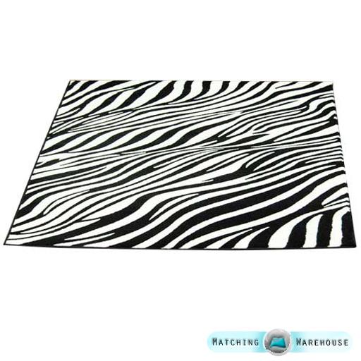 Zebra Rug Large: Animal Print Zebra Pattern Large Floor Rug Mat Carpet
