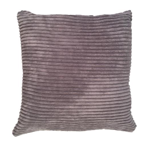 Grey chunky corduroy stripe super soft faux velvet scatter for Grey corduroy sofa