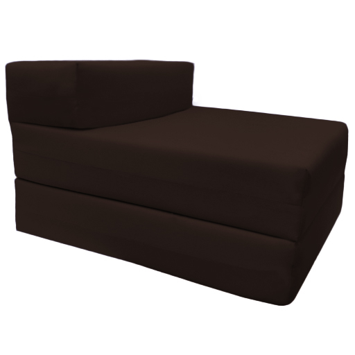 Fold Out Chair Bed Single Block Foam Z Sofabed Guest Folding