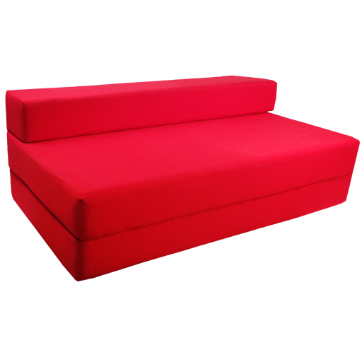 Fold Out Foam Double Guest Z Bed Chair Folding Mattress  : Red20Double from www.ebay.ie size 512 x 512 jpeg 94kB