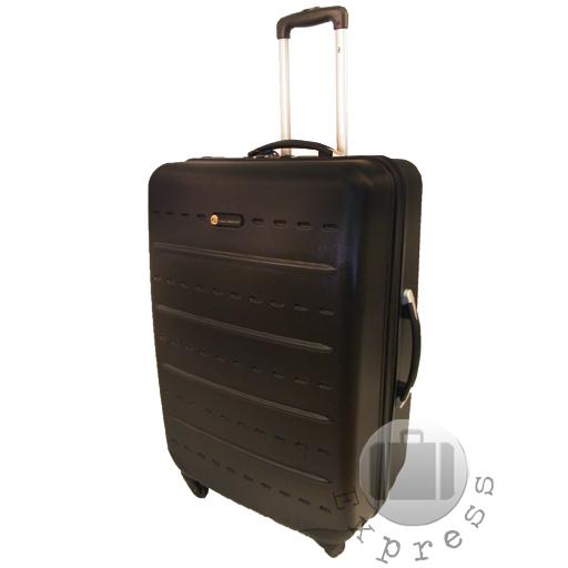 hard side plastic shell 4 wheel trolley suitcase case. Black Bedroom Furniture Sets. Home Design Ideas