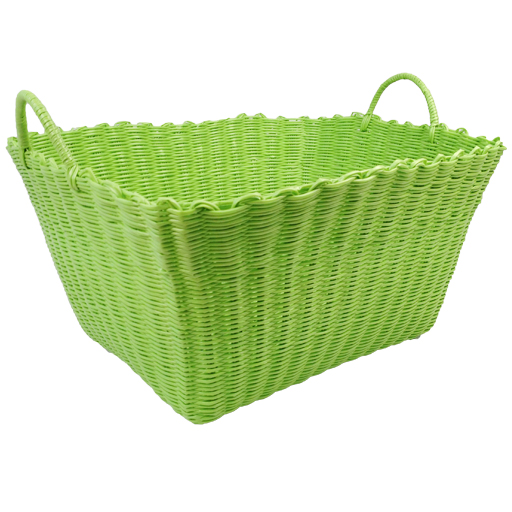 Unique Plastic Wicker Weave Large Laundry Storage Clothes