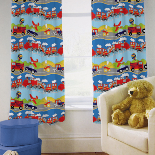Ready-Steady-Bed-Childrens-Kids-Bedroom-Tape-Top-Ready-Made-Curtains-in-2-Sizes