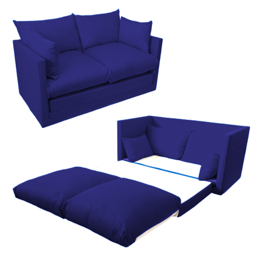 Fold Out 2 Seater Kids Teens Sofa Sofabed Guest Bed Futon Childrens Furniture Ebay
