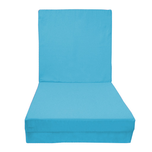 100% Cotton Fold Out Adult Cube Guest Z Bed Chair CUBE Single Futon Chairbed