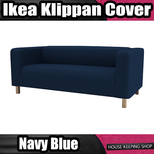 Navy Blue New Custom Cover Slipcover to fit IKEA KLIPPAN 2