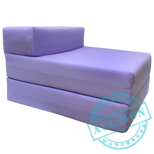 lilac single fold out foam z bed sofabed guest chair bed folding mattress futon ebay. Black Bedroom Furniture Sets. Home Design Ideas
