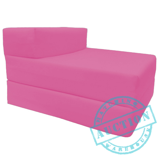 Pink Single Fold Out Foam Z bed Sofabed Guest Chair Bed Folding Mattress Futo