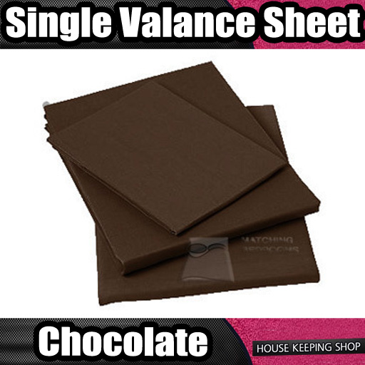 chocolate plain dyed ruched fitted valance bed sheet. Black Bedroom Furniture Sets. Home Design Ideas