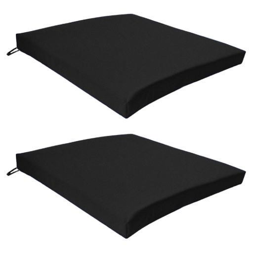 Black Outdoor Indoor Home Garden Chair Floor Seat Cushion Pads ONLY Multipack