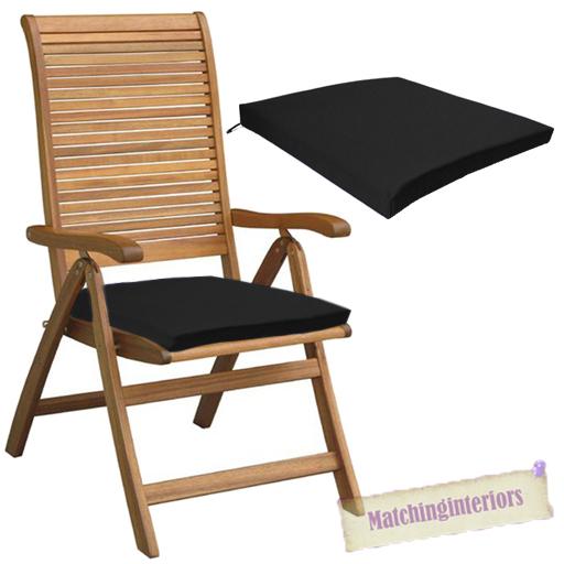 Black Outdoor Indoor Home Garden Chair Floor Seat Cushion