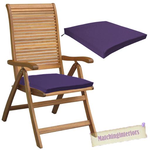 Purple Outdoor Indoor Home Garden Chair Floor Seat Cushion