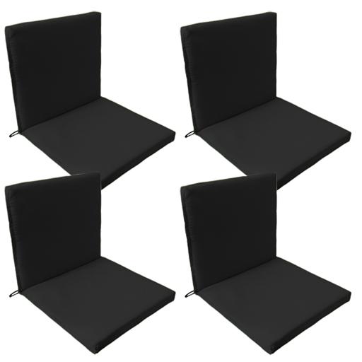 Black Outdoor Indoor Home Garden Chair Floor Seating 2 Part Pad ONLY