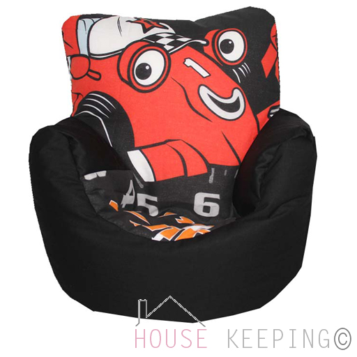 roary racing car children 39 s bean bag chair beanbag kids seat play furniture ebay. Black Bedroom Furniture Sets. Home Design Ideas