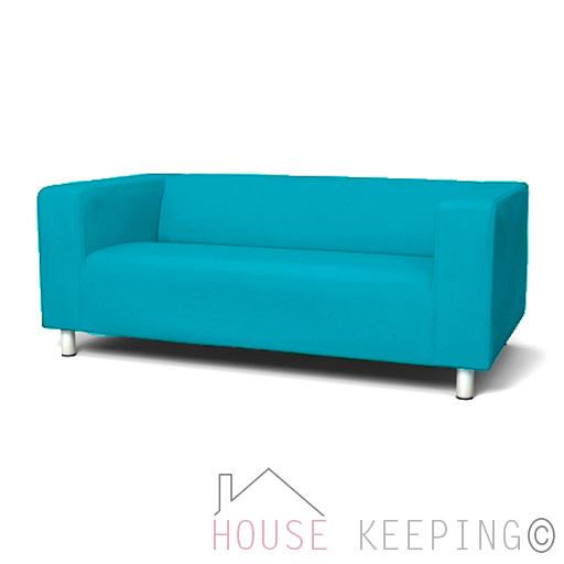 Turquoise new custom cover slipcover to fit ikea klippan 2 seater sofa ebay - Turquoise sofa ...