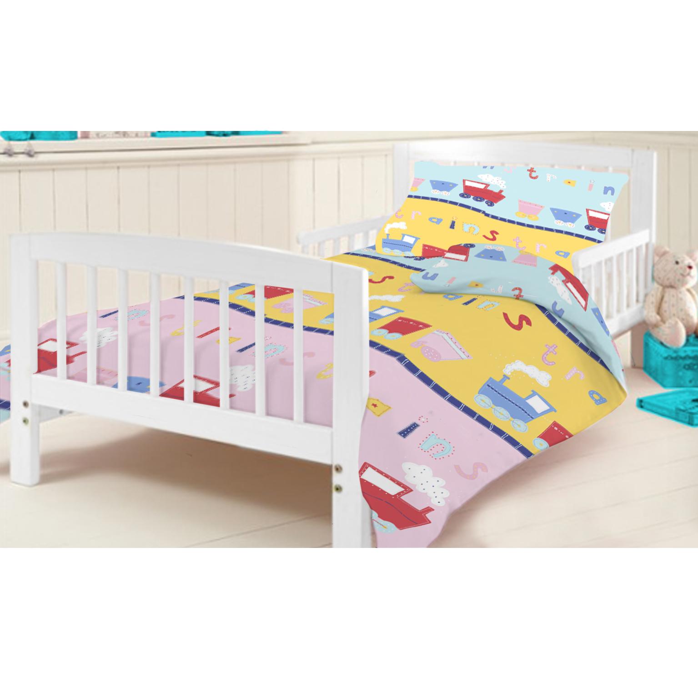 Children S Cot Bed Duvet Covers: Trains Childrens Bedding Kids Toddler Cot Cotbed Duvet