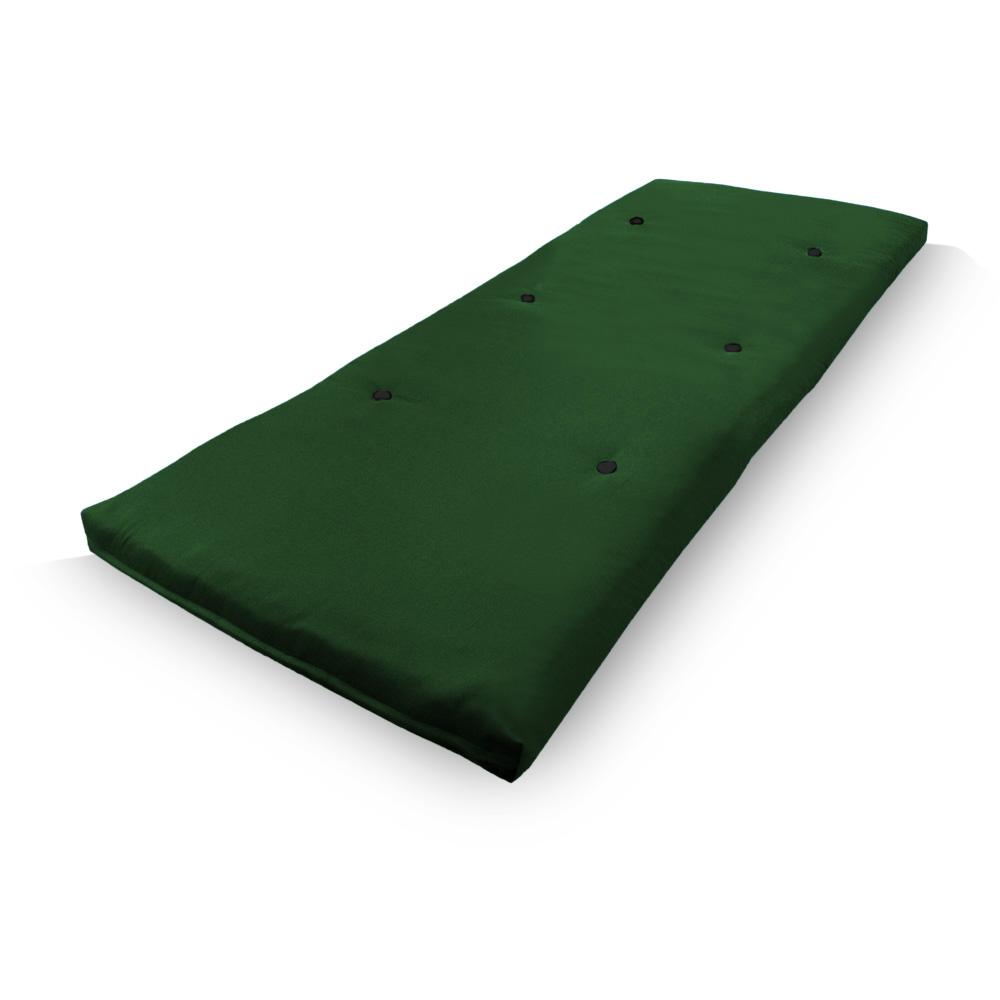 Green Studio Futon Wooden Frame Sofa Bed Thick Sleeping