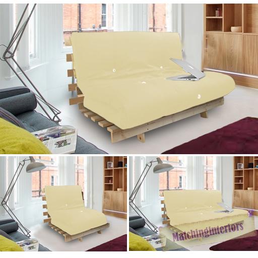 Stone Studio Futon Wooden Frame Sofa Bed Thick Sleeping