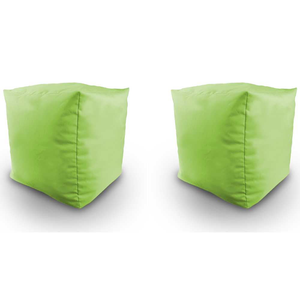 Filled Bean Bag Cube 2pk Indoor Outdoor Water Resistant