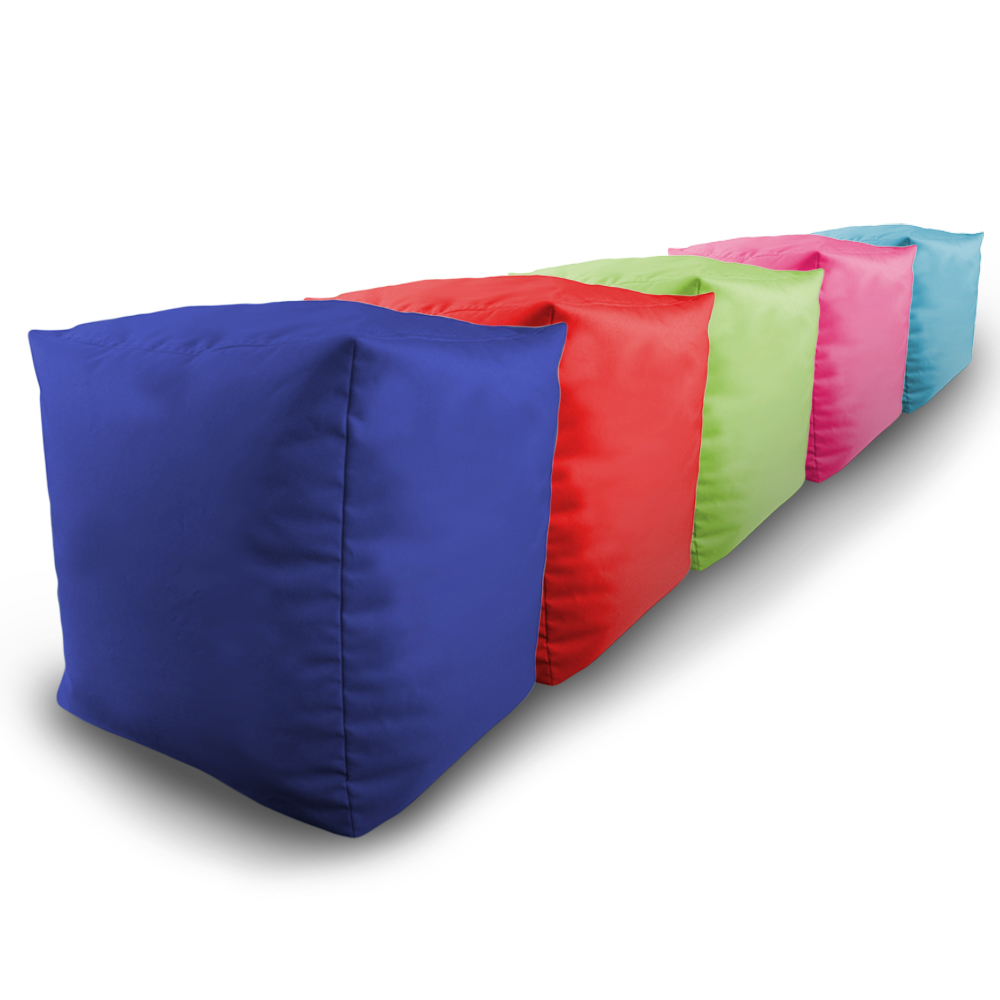 Details about filled bean bag cube 2pk indoor outdoor water resistant