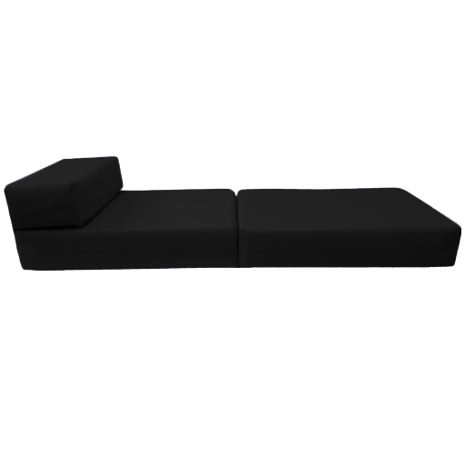 Black Fold Out Guest Sofa Z Bed Sleeping Mattress Studio ...