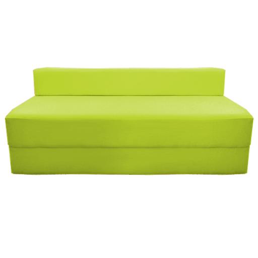 Canap chauffeuse pliable citron vert studio etudiante for Matelas exterieur 80x120