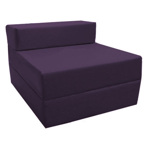Purple fold out guest sofa z bed sleeping mattress studio for Sectional sofa with fold out bed